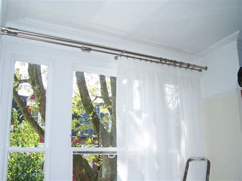 curtain pole to fit in recess 28mm double pole with recess brackets