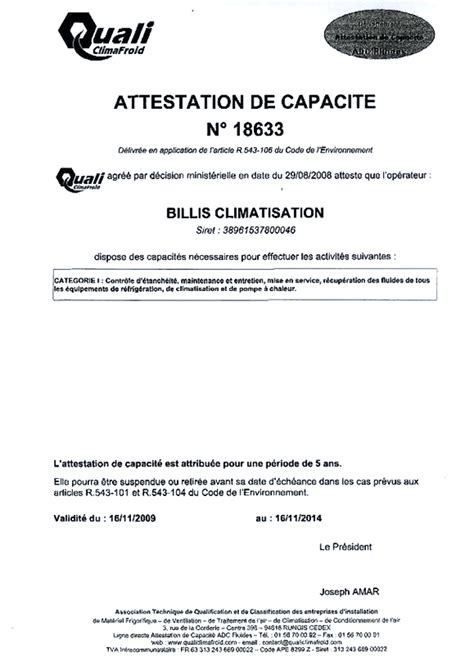 modele certificat de capacite qualibat document