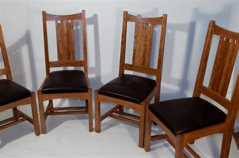 Arts And Crafts Dining Chairs Stonehouse Woodworking 187 Archive 187 Arts And Crafts Dining Chair Set