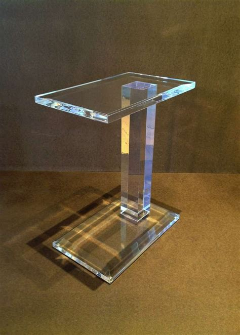 Acrylic Side Table by Acrylic Side Table At 1stdibs