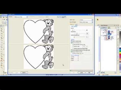 coreldraw tracing tutorial coreldraw how do i trace a bitmap youtube