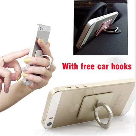 universal smartphone car mount ring cell phone holder and hook car holder stand mobile phone
