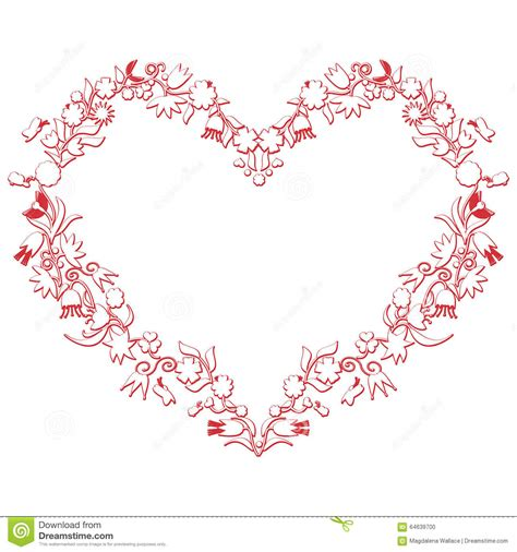 valentines day love heart shape with 3d drawing stock