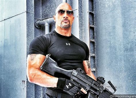 fast and furious 8 guns dwayne johnson shares new picture from fast and furious 8