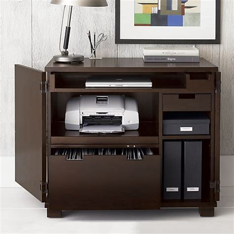 Crate And Barrel Office Desk Incognito Mocha Compact Office