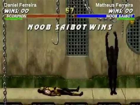 mortal kombat scorpion vs noob saibot youtube mortal kombat trilogy scorpion vs noob saibot youtube