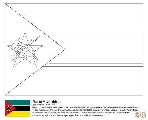 free coloring pages of flag of ghana flag of mozambique coloring page free printable coloring