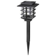 solar mini lights home depot hton bay outdoor black solar led lights 10 pack 27600