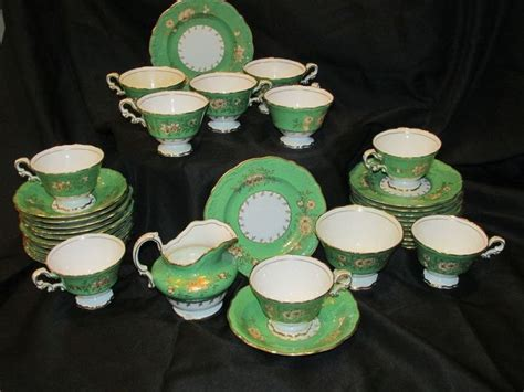 piece antique spode copelands china tea set early