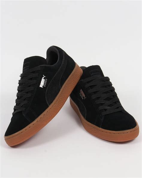Suede Black suede citi trainers black shoes sneakers classic mens