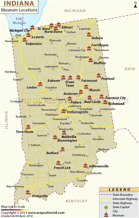usa map indiana list of museums in indiana indiana museum map