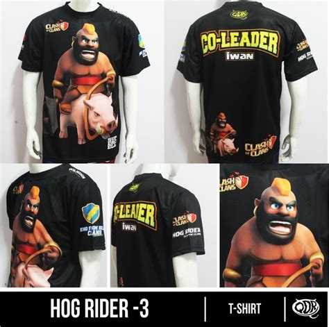 Kaos Distro Coc Hog Rider clash of clans jersey hog riders 3 bahan fit