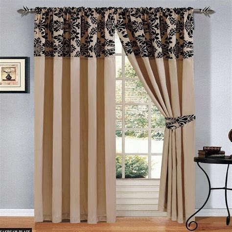 black and cream damask curtains luxury damask curtains pair of half flock pencil pleat