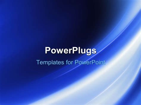 Powerpoint Template Navy Blue Background With Glowing Curved Striped 4881 Powerplugs Powerpoint Templates