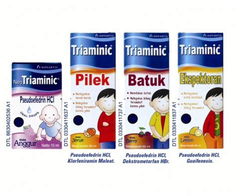 Obat Triaminic jika anak terkena batuk pilek the