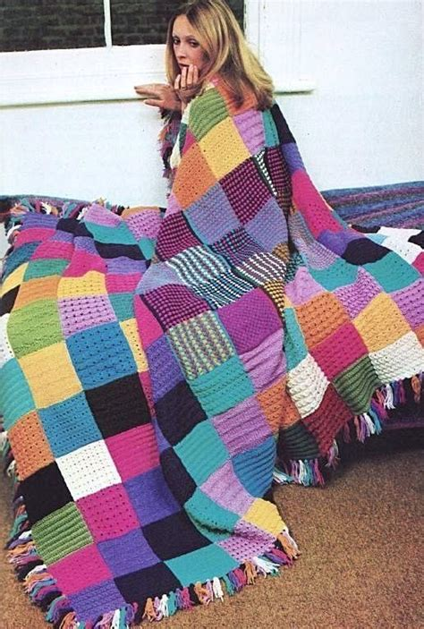 Patchwork Blanket Knitting Pattern - patchwork blanket knitting patterns and cushions on