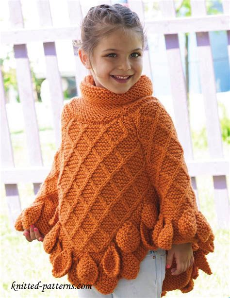 knitted poncho for poncho pullover knitting pattern free