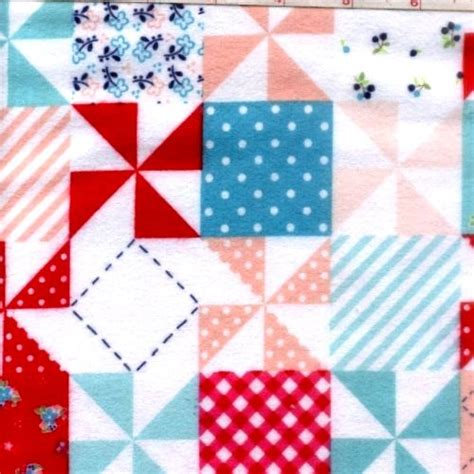 Flannel Patchwork Fabric - cotton quilt fabric flannel country patchwork