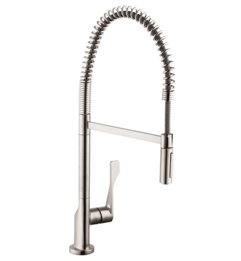 semi professional kitchen faucet hansgrohe 39840 axor citterio 2 spray semi pro kitchen faucet