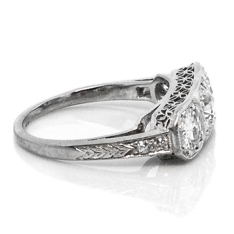 3 deco rings deco three platinum engagement ring