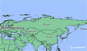 where is petersburg russia where is