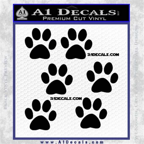 printable cling stickers 6 paw print decal stickers 187 a1 decals
