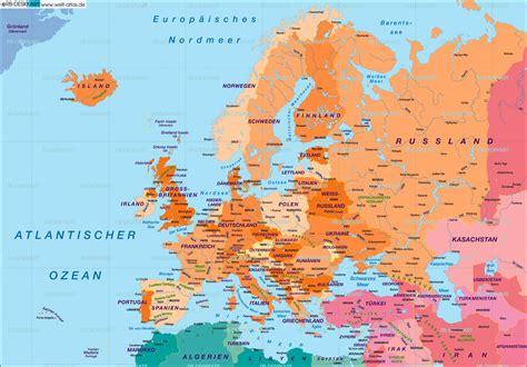 Image Gallery Landkarte Europa