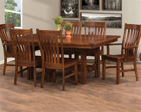 amish made sutter mills table chairs homesquare furniture