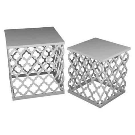 metal lattice side table lattice accent table set white i target