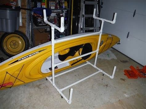 diy easy kayak upright garage storage doovi