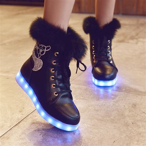 Light Up Boots by 2015 New Arrival Fashion Led Winter Snow Boots Led Glowing