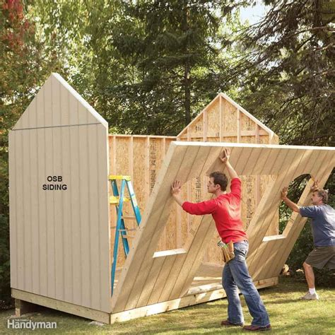 build backyard shed shed plans storage shed plans the family handyman