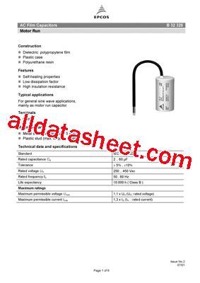 capacitor epcos b32327 b32328 a6606 데이터시트 pdf epcos