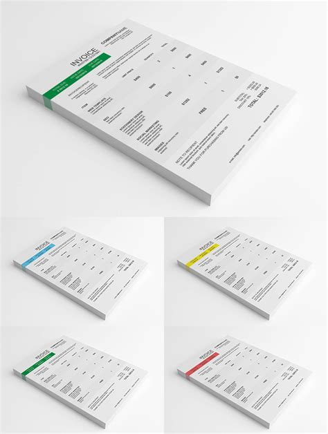 psd invoice template psd clean invoice template