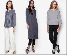 Baju Blouse 2766 Maldive Blouse Grey 10 grey blouse ideas for raya 2016 grey collared boxy blouse baju raya 2016 fashion ideas