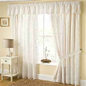 ready made net curtains lace net lined ready made curtains trailing floral