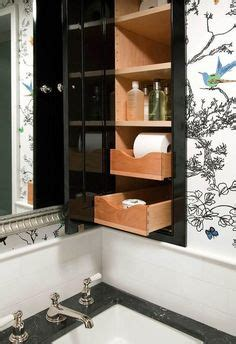pull out mirror bathroom the north end loft a built between the studs medicine cabinet bathroom decor and