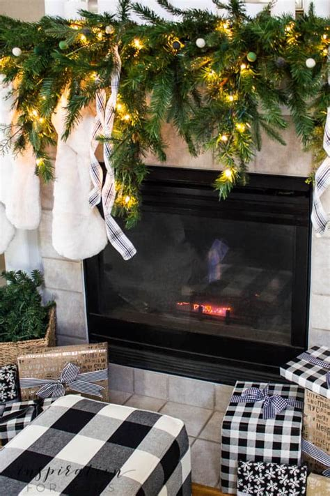 6ft cascading fireplace garland white mantel inspiration for