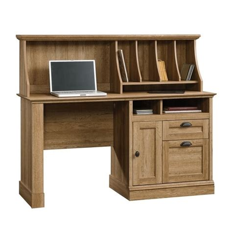 Oak Desks With Hutch Computer Desk With Hutch In Scribed Oak 418294 95 Kit