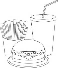 Fast Food Line Art  Free Clip sketch template