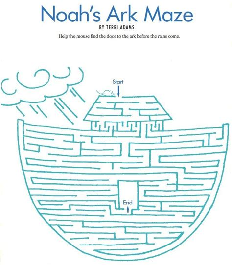 printable lds mazes 17 best images about noah s ark on pinterest bible