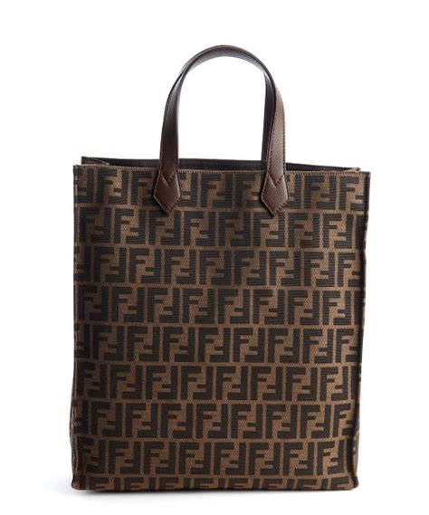 Fendi Matrioska Canvas Tote by Fendi Brown And Black Canvas Zucca Large Tote Bag In Brown