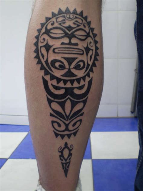 tribal wave tattoo meaning tiki calf on tattoochief tribal tattoos