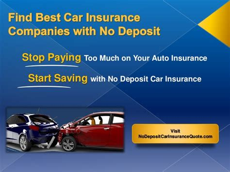 Compare Car Insurance 1 by Car Insurance Companies With No Deposit Best Auto