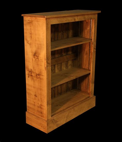 rustic plank 3ft6 bookcase with adjustable ladder racking