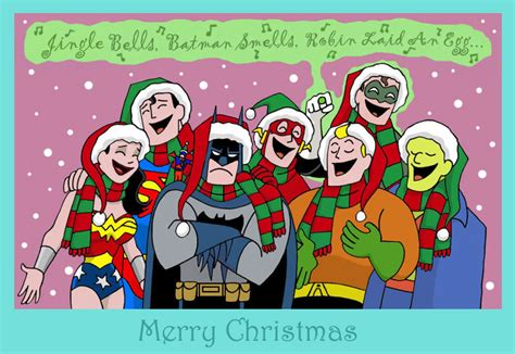 Happy Holidays Dc Nearlyweds a justice by the blackcat on deviantart