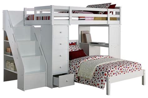 twin size loft bed with desk acme furniture megan twin size loft bed desk chest all