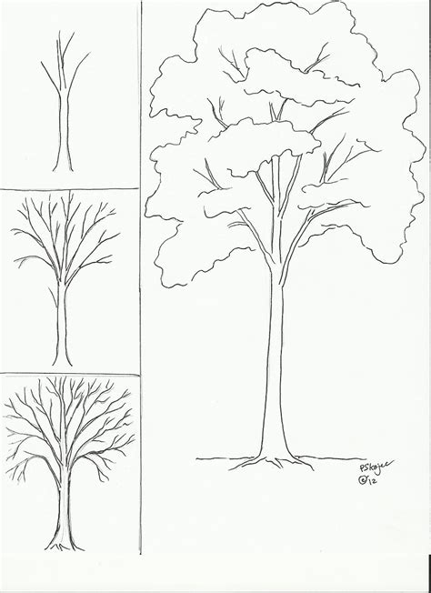 draw a tree autumn trees q tip leaves
