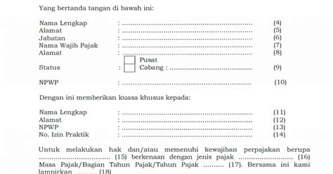 Surat Kuasa Khusus Tax Amnesty by Pajak Pembuatan Surat Kuasa Khusus Untuk Kewajiban