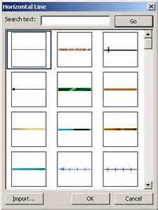 insert horizontal lines in word document office experts